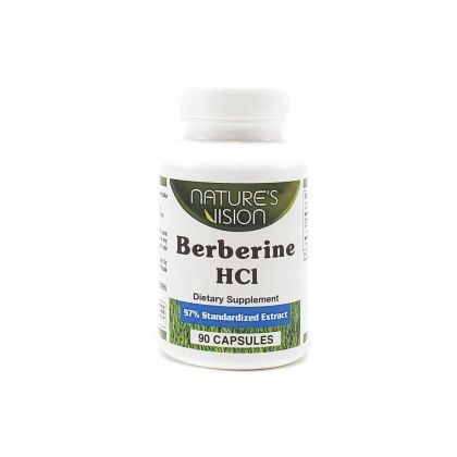 Nature's Vision Berberine HCL 90 Capsules: click to enlarge